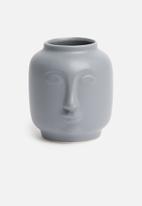 H&S - Face vase - grey