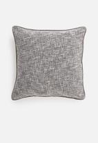 Hertex Fabrics - Dante cushion cover - silver grey