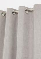 Sixth Floor - Eyelet harvey woven blockout curtain - amarula