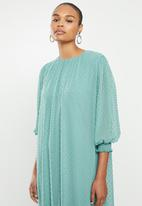 MILLA - Puffed chiffon tiered dress - blue