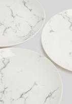 Excellent Housewares - Marble side plate set of 6 - white