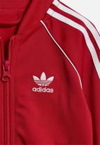 adidas Originals - Short sleeve track top  - red & white