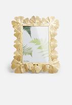 H&S - Metal leaf photo frame - matte gold