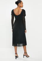 MILLA - Shimmer knit dress - black