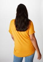 Cotton On - Curve Karly short sleeve tee - spruce yellow