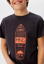 MANGO - T-shirt mnglogo - black