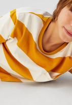 MANGO - T-shirt rayas62 - orange & cream