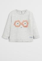 MANGO - Sweatshirt rose - grey