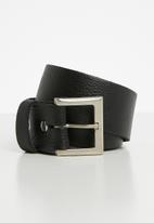 Superbalist - Shane leather belt - black