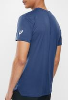 Asics - Silver Asics tee - navy & orange