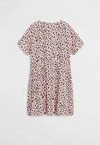 MANGO - Dress vanesa - pink & black