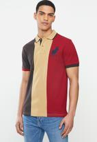 POLO - Chris short sleeve colour block fashion golfer - multi