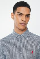 POLO - Donnie signature pattern long sleeve shirt - black