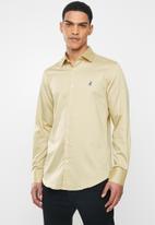 POLO - Greig long sleeve shirt - stone