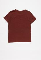 name it - Tria jbia short sleeve top - burgundy