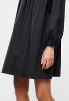 Blake - Poplin mini dress - black