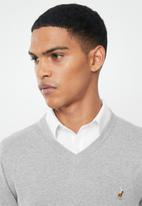 POLO - Luke long sleeve v-neck pullover - grey