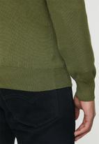 POLO - Luke long sleeve v-neck pullover - green