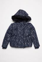 MINOTI - Girls foil aop coat - navy