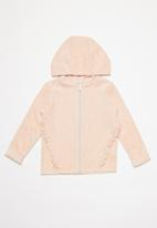 MINOTI - Infants velour zip thru - pink
