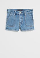 MANGO - Shorts candy - blue