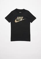 Nike - B nsw tee futura camo fill - black