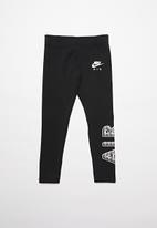 Nike - Girls nsw nike air favorites legging - black & white