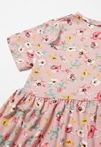 POP CANDY - Printed short sleeve dress - pink