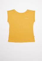 Roxy - Lost in my dream short sleeve retro - yellow