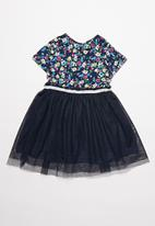 POP CANDY - Girls mesh dress - navy