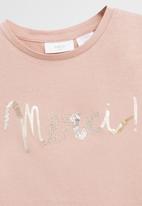 MANGO - T-shirt merci  - pink