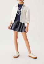 MANGO - Skirt skaty6 - navy & white