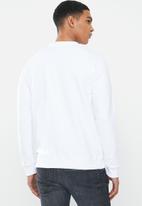 Ben Sherman - Ben sweatshirt crew - white