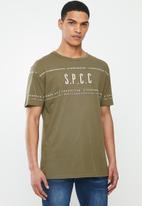 S.P.C.C. - Thiago fashion fit tee - khaki
