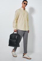 Superbalist - Barber regular fit long sleeve oxford shirt - beige