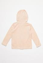 MINOTI - Kids velour zip thru - pink