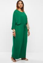 edit Plus - Grown on sleeve maxi dress - emerald