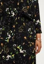 edit Plus - Grown on sleeve maxi dress - stock print