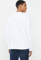 Ben Sherman - Target sweatshirt crew - white