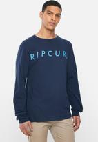 Rip Curl - Box texture long sleeve tee - navy