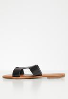 POLO - Caroline flat sandal - black
