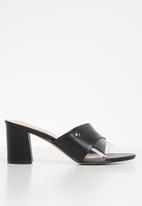 POLO - Jess perspex fashion mule - black