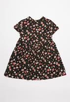 POP CANDY - Printed short sleeve dress - black & red