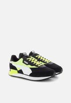 PUMA - Future rider neon play - Puma black-fizzy yellow