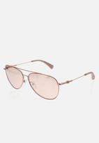 CALVIN KLEIN JEANS - Amplified hardware sunglasses - rose gold
