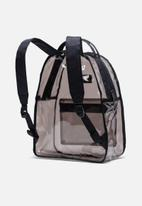 Herschel Supply Co. - Clear nova mid volume backpack - black smoke