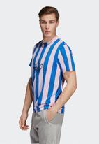 adidas Originals - ES ply jersey tee - blue & pink