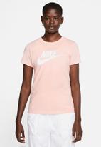 Nike - Essential icon futura tee - peach