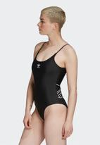 adidas Originals - Onepiece logo swimsuit - black & white