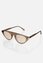 CALVIN KLEIN JEANS - Contour matte crystal sunglasses - beige